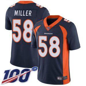 Broncos Von Miller 100th Season Jersey 2